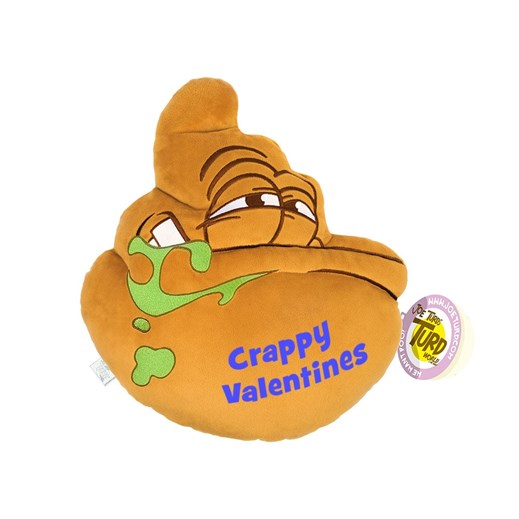 'Crappy Valentines' the Lazy the Turds® Cushion