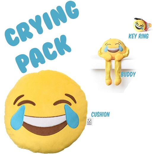 Crying With Laughter emoji Cushion Pack