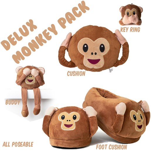 Monkey emoji Cushion Deluxe Pack - Size Large 9-11 feet
