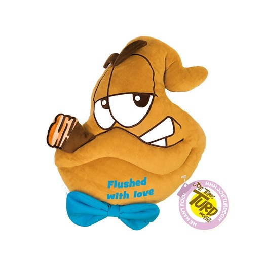 'Flushed with love' Bog Father the Turds® Cushion