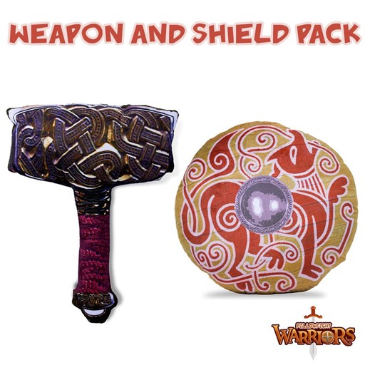 Viking Hammer and War Hound Pillowfight Warriors® Soft Play Pack