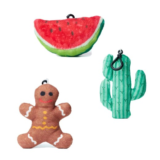 Cactus, Melon and Ginger Bread emoji® Key Chain Pack