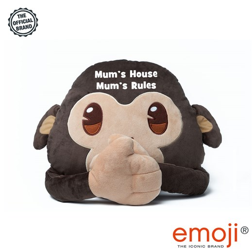 Mum's House Mum's Rules' Monkey emoji® Brand Cushion