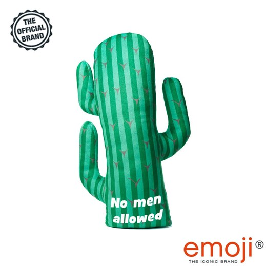 'No men allowed' Women's Day Cactus emoji® Brand Cushion