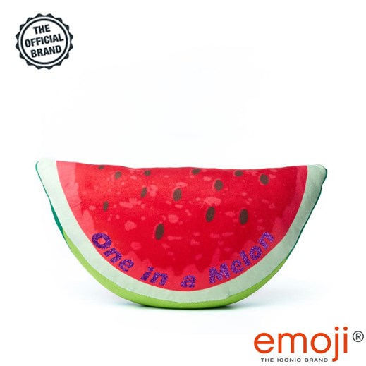 One in a melon' Glitter Melon emoji® Brand Cushion