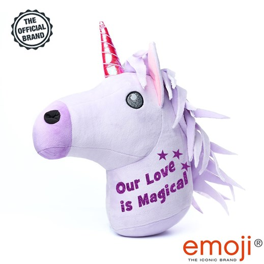'Our love is magical' Glitter Unicorn emoji® Brand Cushion