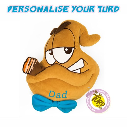 Personalised the Turds® Bog Father Cushion