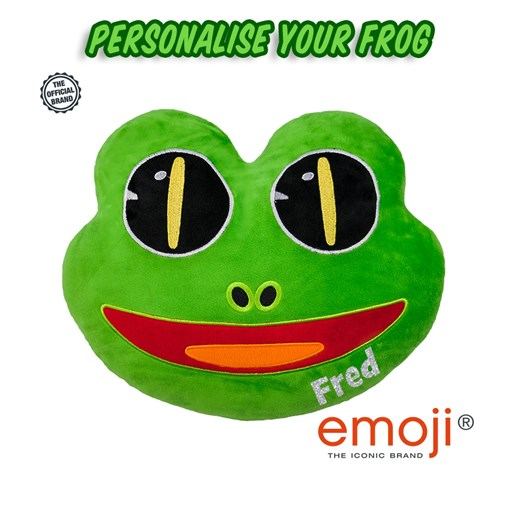 Personalised Frog emoji® Brand Cushion