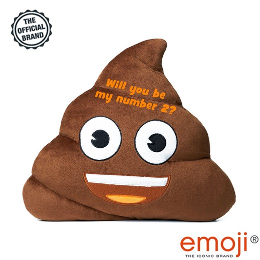 'Will you be my number 2?' Poo emoji® Brand Cushion