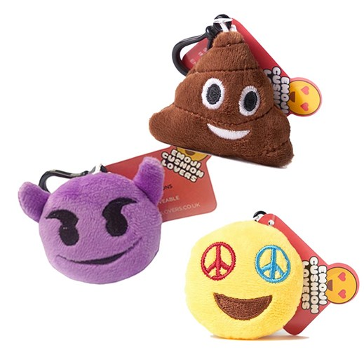 Poo, Devil, Peace emoji Key Chain Pack