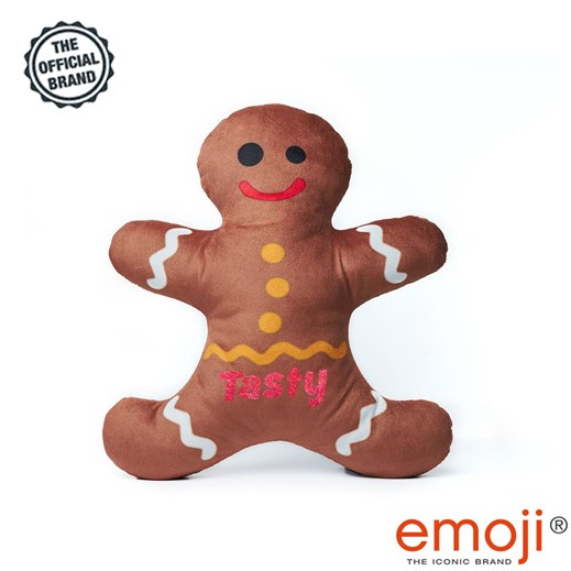 Tasty' Glitter Ginger Bread emoji® Brand Cushion