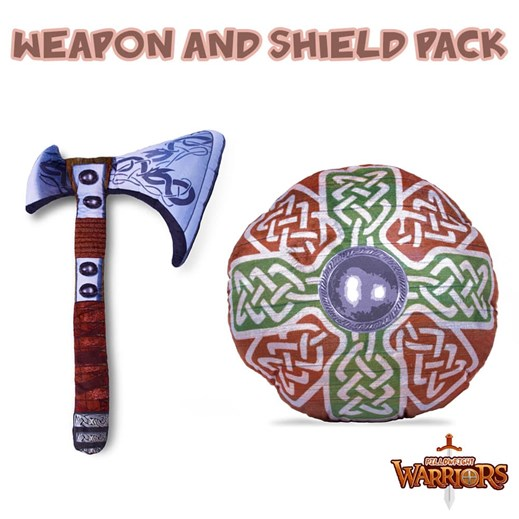 Viking Axe and Cross Pillowfight Warriors® Soft Play Pack
