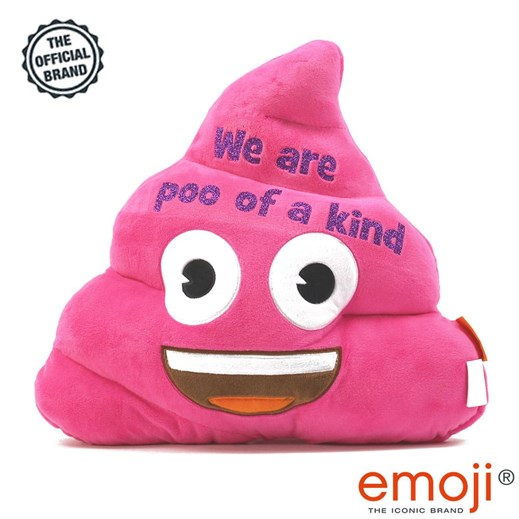 'We are poo of a kind' glitter Pink Poo emoji® Brand Cushion