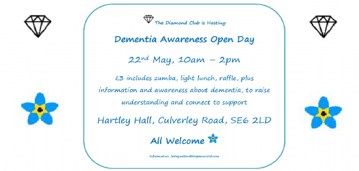 Dementia Awareness Open Day 22nd May
