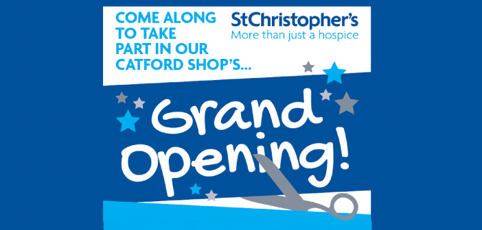 St Christopher's Hospice Opens Catford Shop – Join us to celebrate the opening