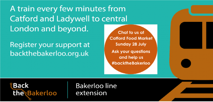 Back the Bakerloo in Catford this weekend – spreading the word