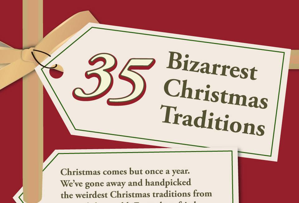 most bizarre Christmas traditions