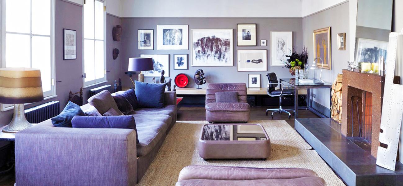 purple interior of home swap