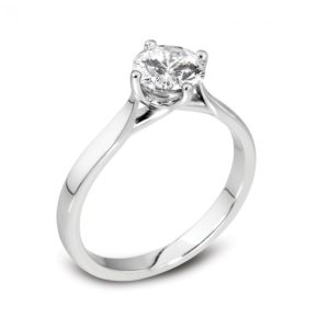 Classic Solitaire Diamond Engagement Ring