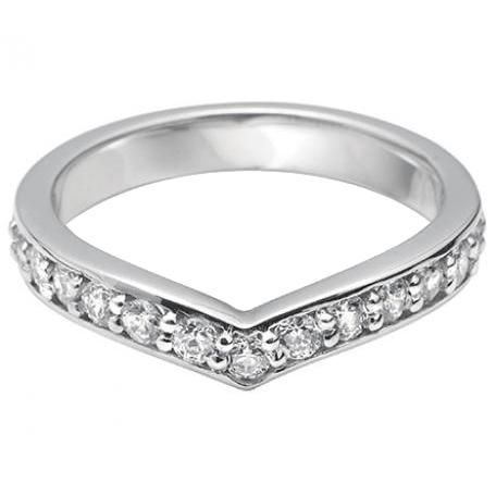 SmallV Shaped Diamond Wedding Ring