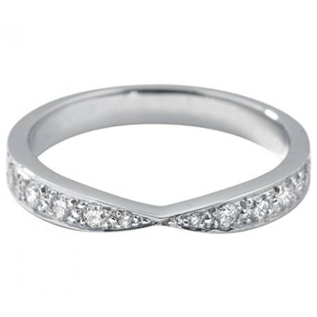 Double VShaped Diamond Wedding Ring