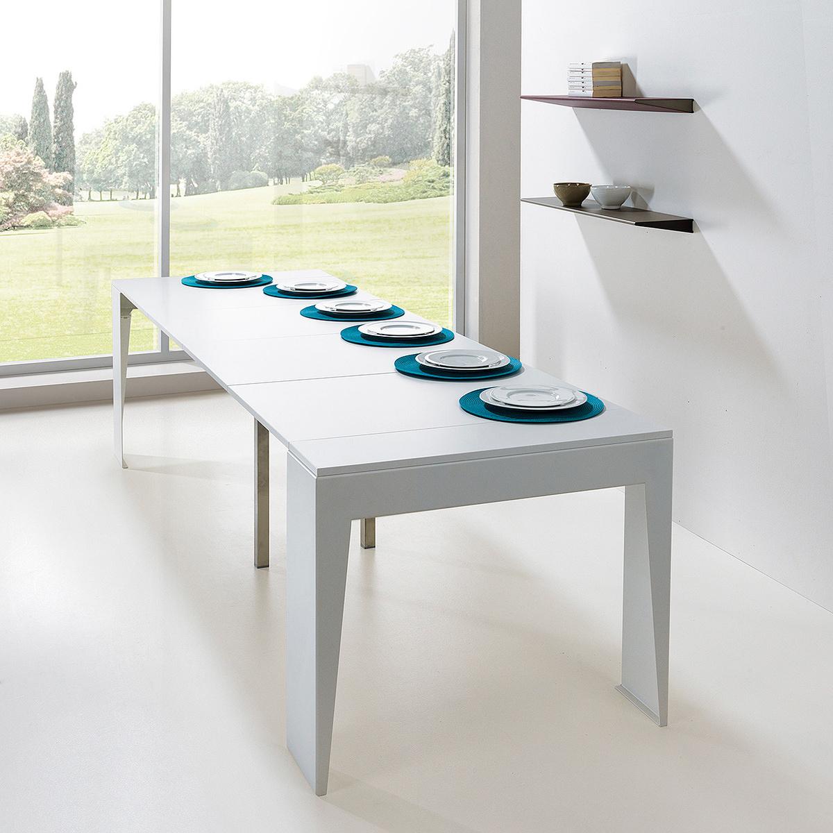Consolle allungabile marvel con larghezza 90 cm by pezzani lovethesign - Larghezza tavolo ...