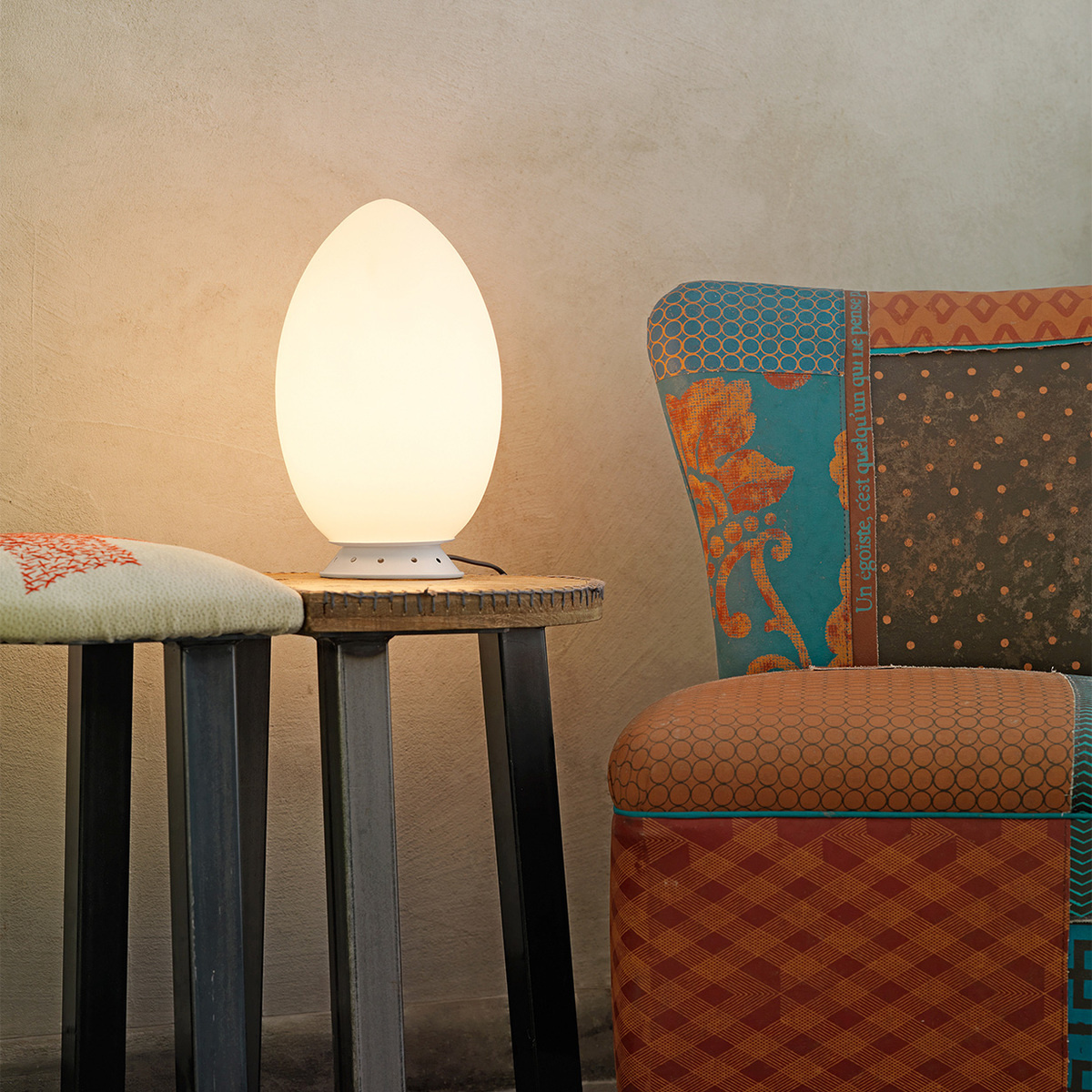 Lampada da tavolo uovo piccola by fontanaarte lovethesign for Lampada uovo fontana arte