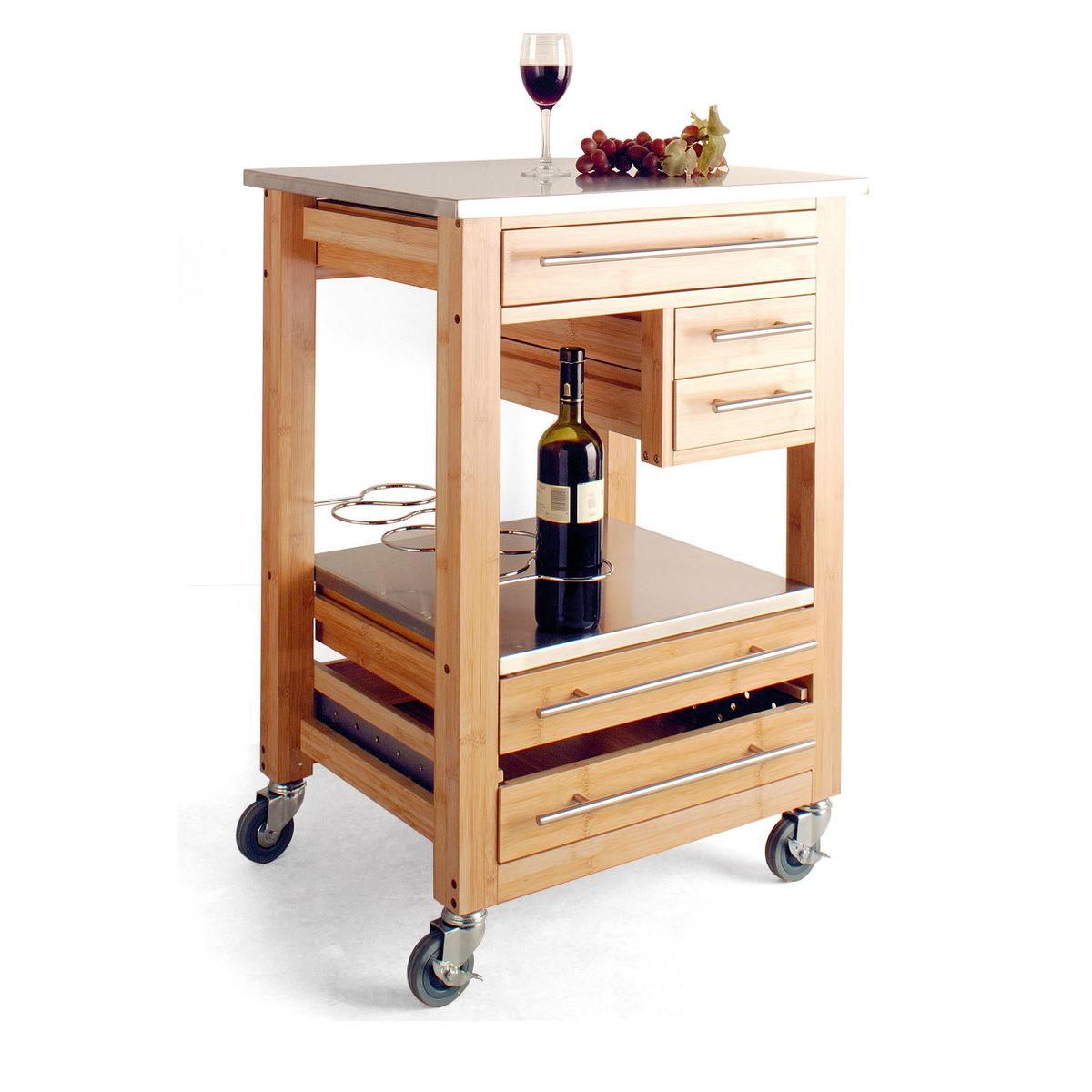 Mobile carrello e portabottiglie by brandani lovethesign for Mobile porta bottiglie