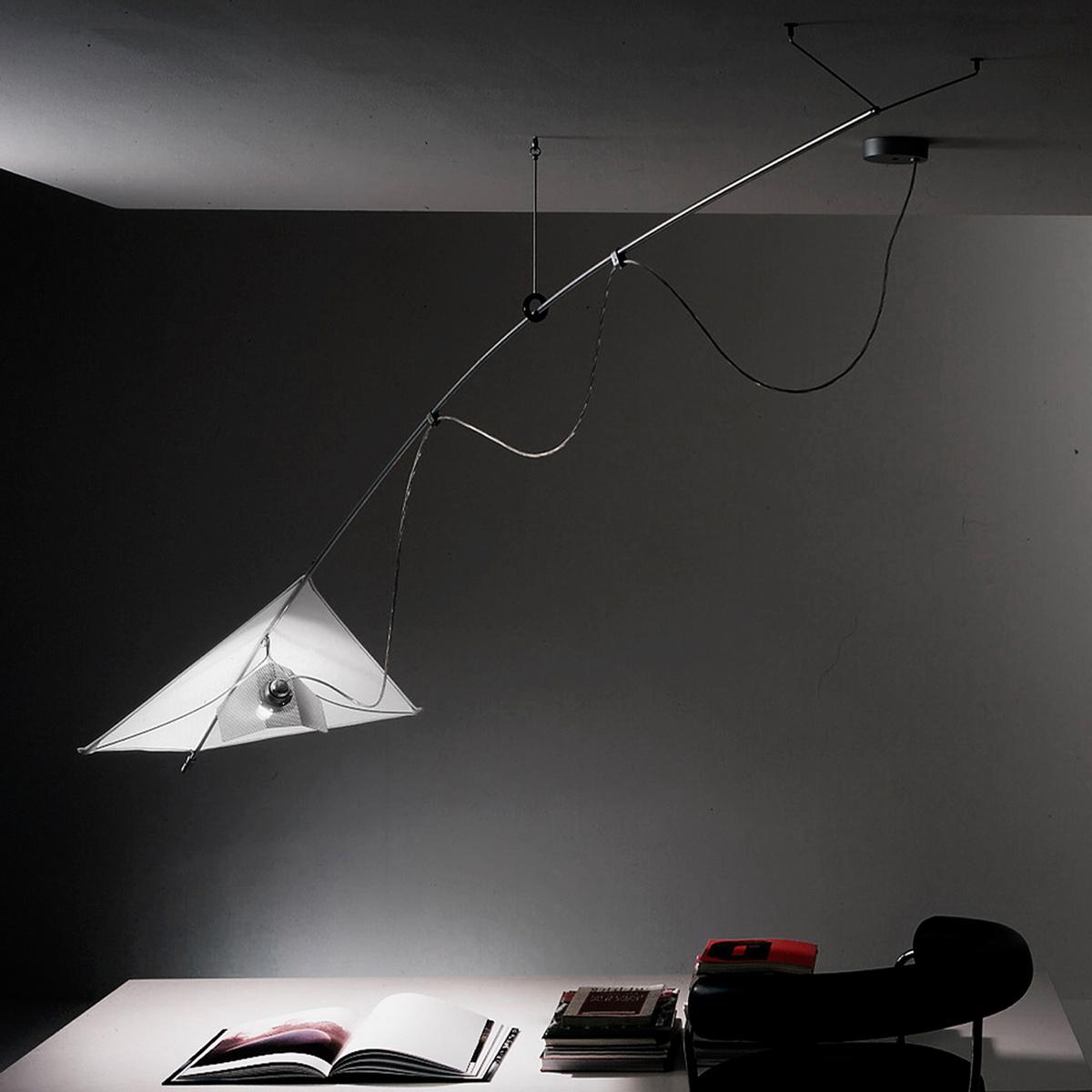 Lampada a sospensione vela by martinelli luce lovethesign for Lampada vela artemide