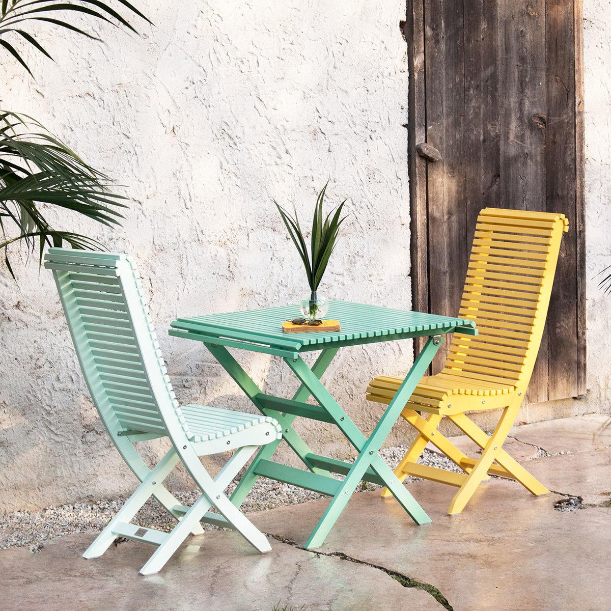 Tavolo con due sedie eva balcony by gasens lada - Tavolo con sedie ...