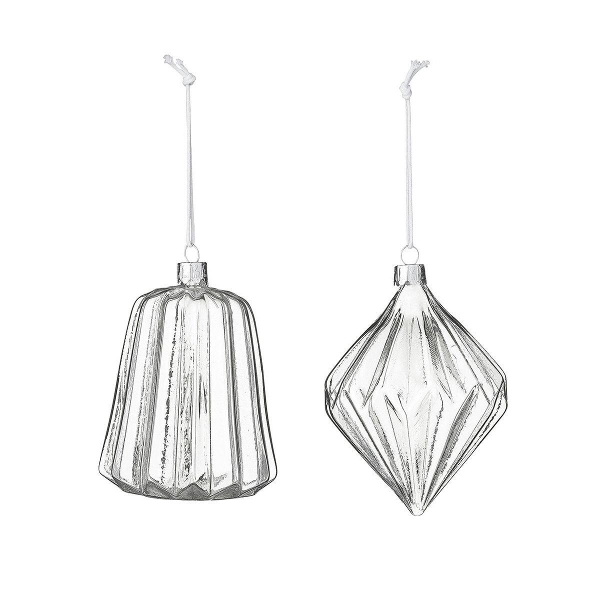 2 decorazioni vetro trasparente by bloomingville lovethesign - Decorazioni vetro ...