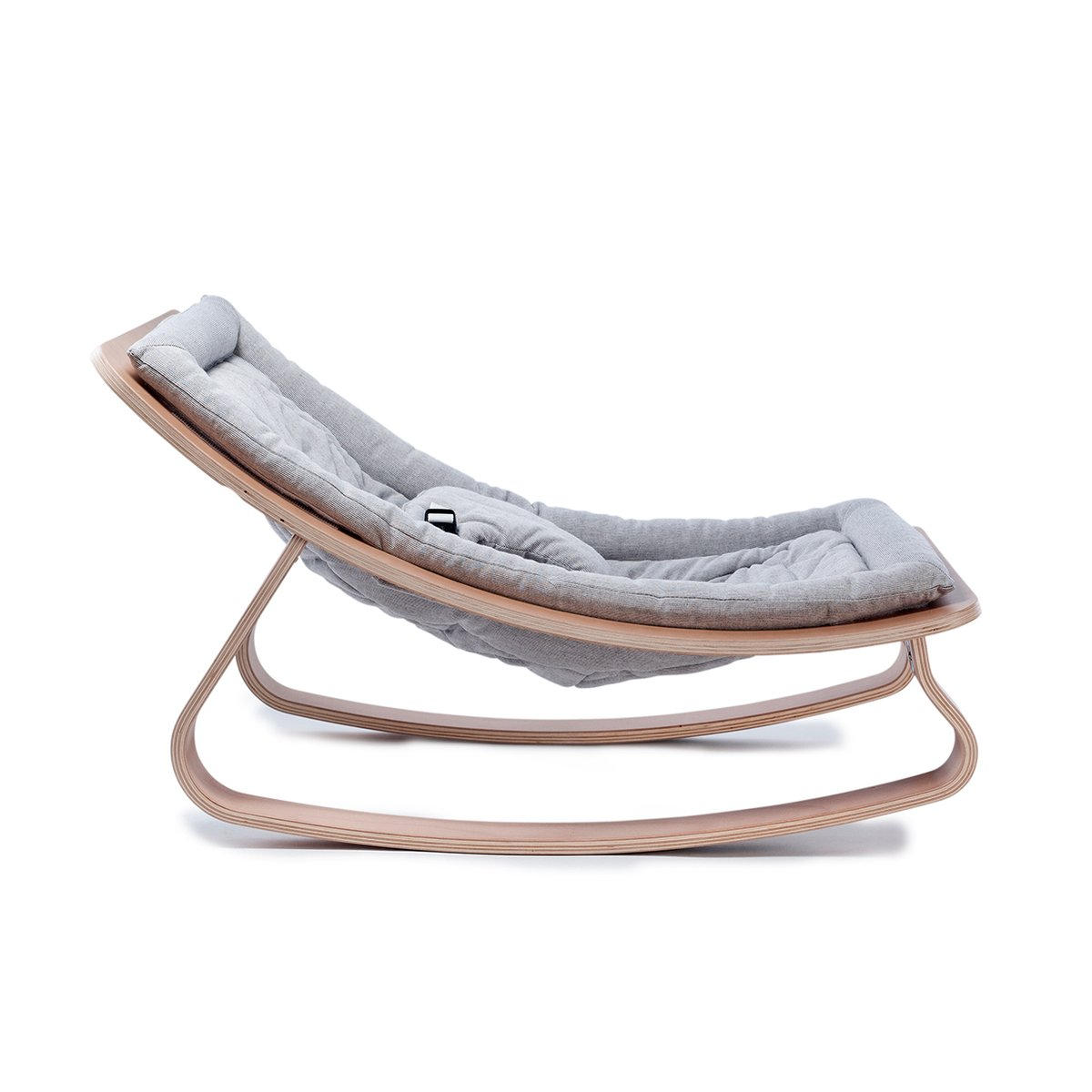 Levo Baby Rocker Bouncer In Beech With Cushion By Charlie