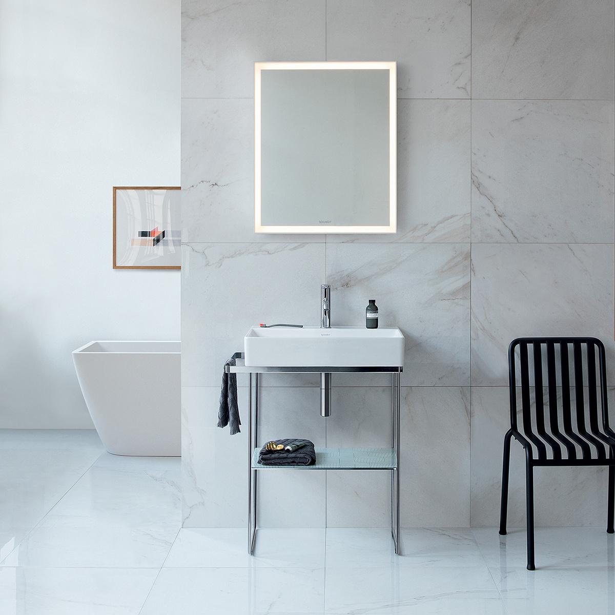 Composizione bagno durasquare con struttura metallica e - Deghishop bagno ...