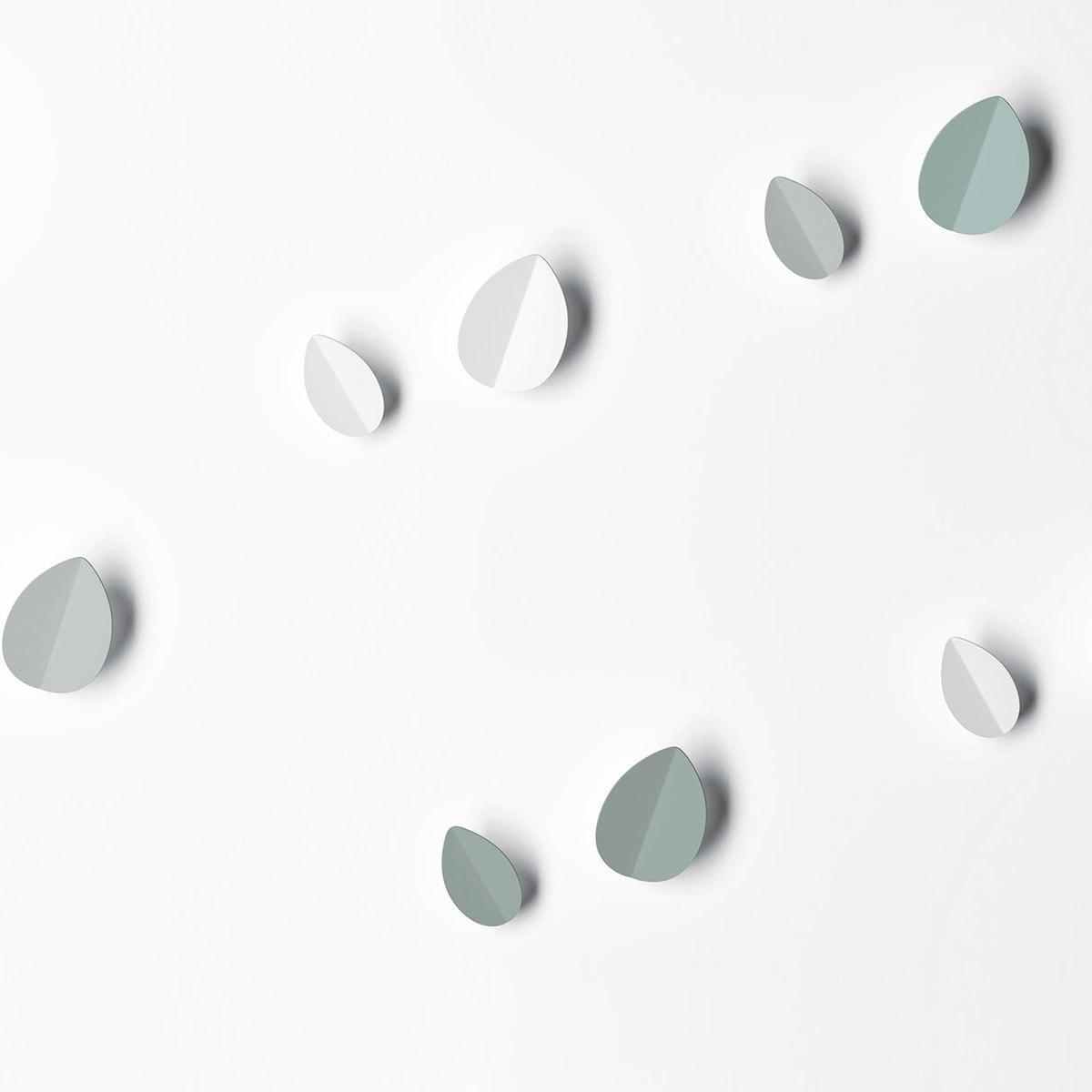 Appendiabiti da parete leaf hook s bianco by ex t lovethesign - Appendiabiti ikea da parete ...