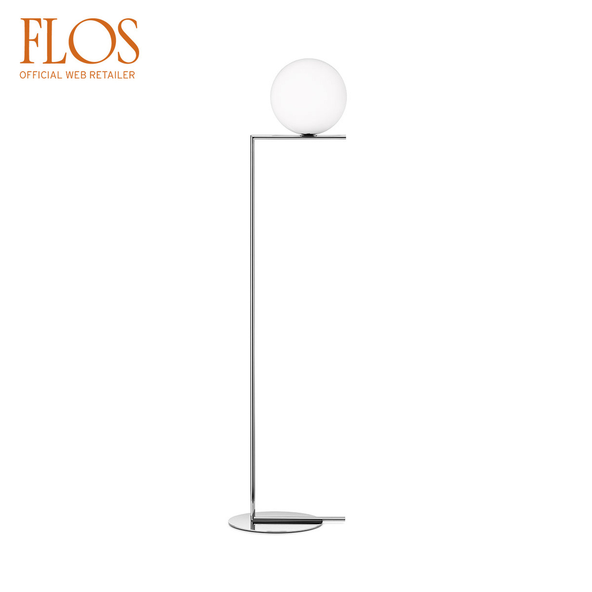 Lampada IC F2 da terra cromo by Flos | LOVEThESIGN
