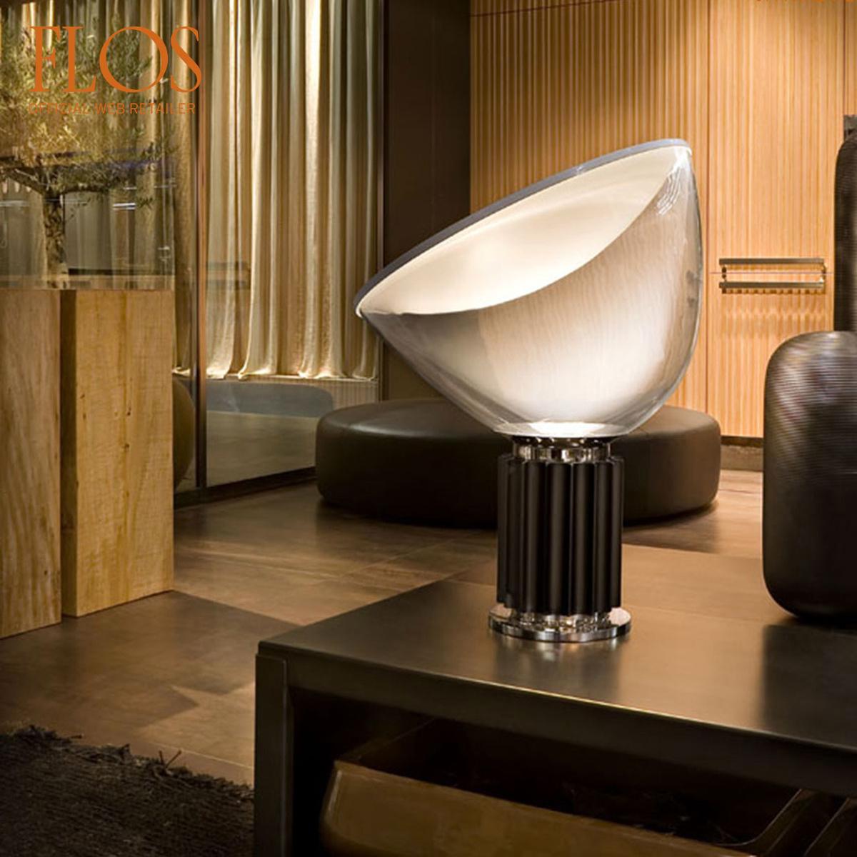 Lampada da tavolo taccia led in vetro by flos lovethesign - Lampada da tavolo a led ...