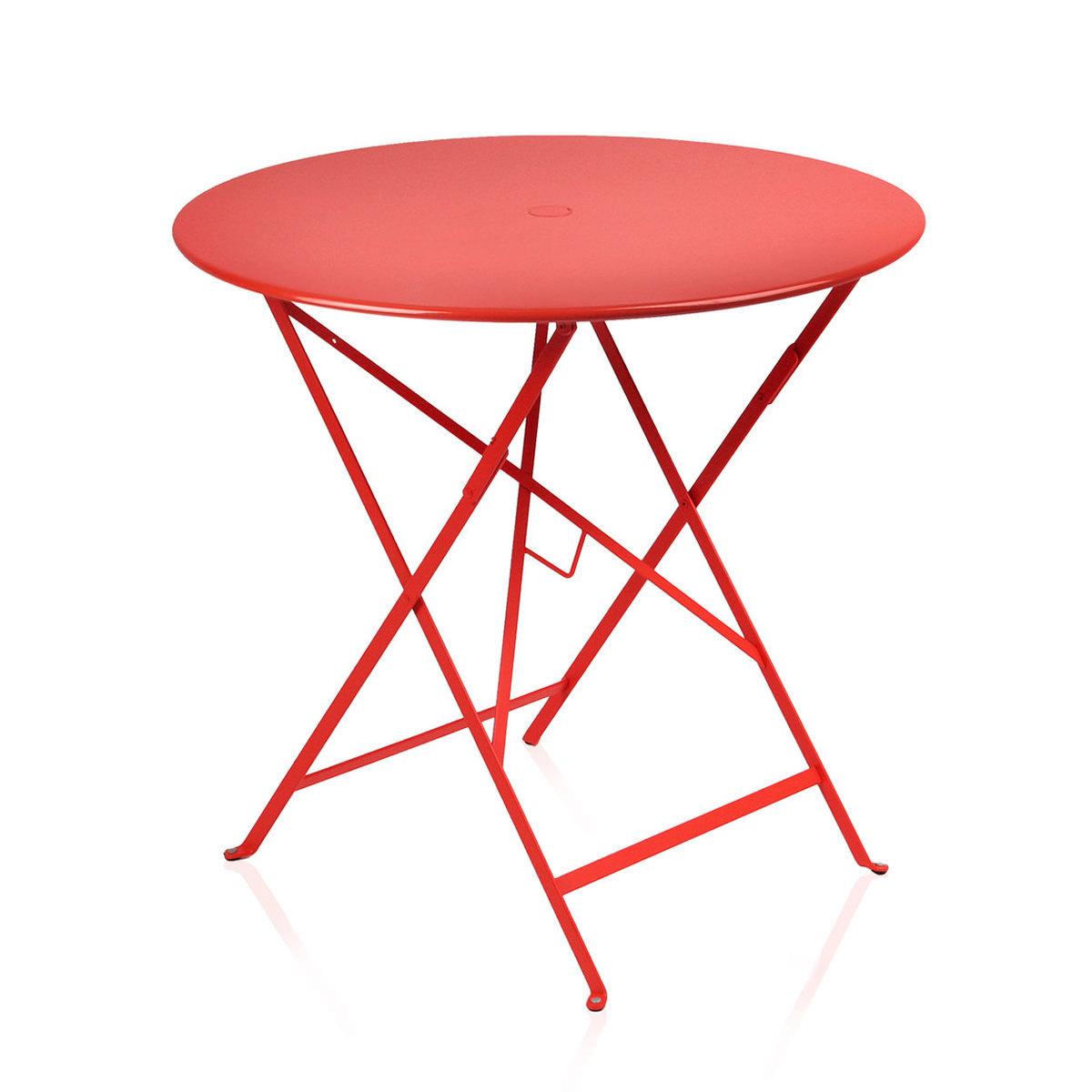 Table ronde Bistro diam. 77 cm en acier laqué