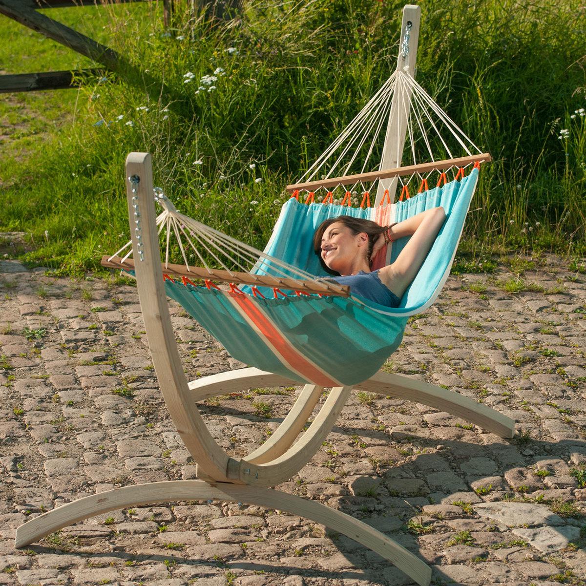 hamac 1 place fruta avec support canoa by la siesta lovethesign. Black Bedroom Furniture Sets. Home Design Ideas