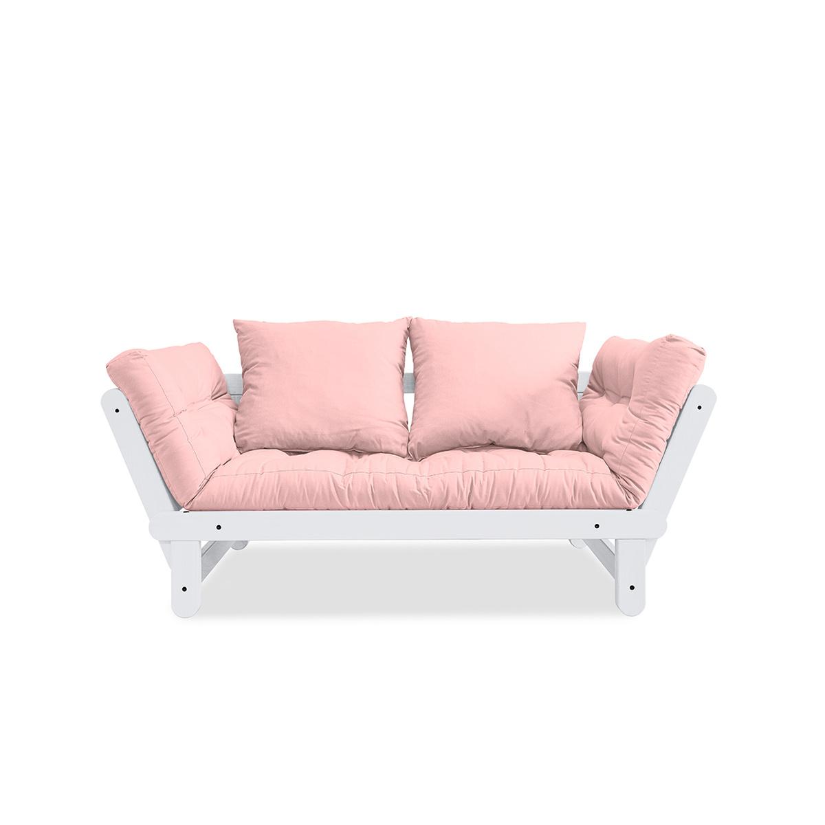 Divano letto beat con struttura bianca by karup lovethesign for Struttura letto divano