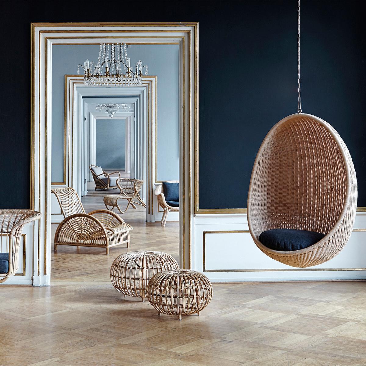 fauteuil suspendu egg indoor avec coussin by sika lovethesign. Black Bedroom Furniture Sets. Home Design Ideas