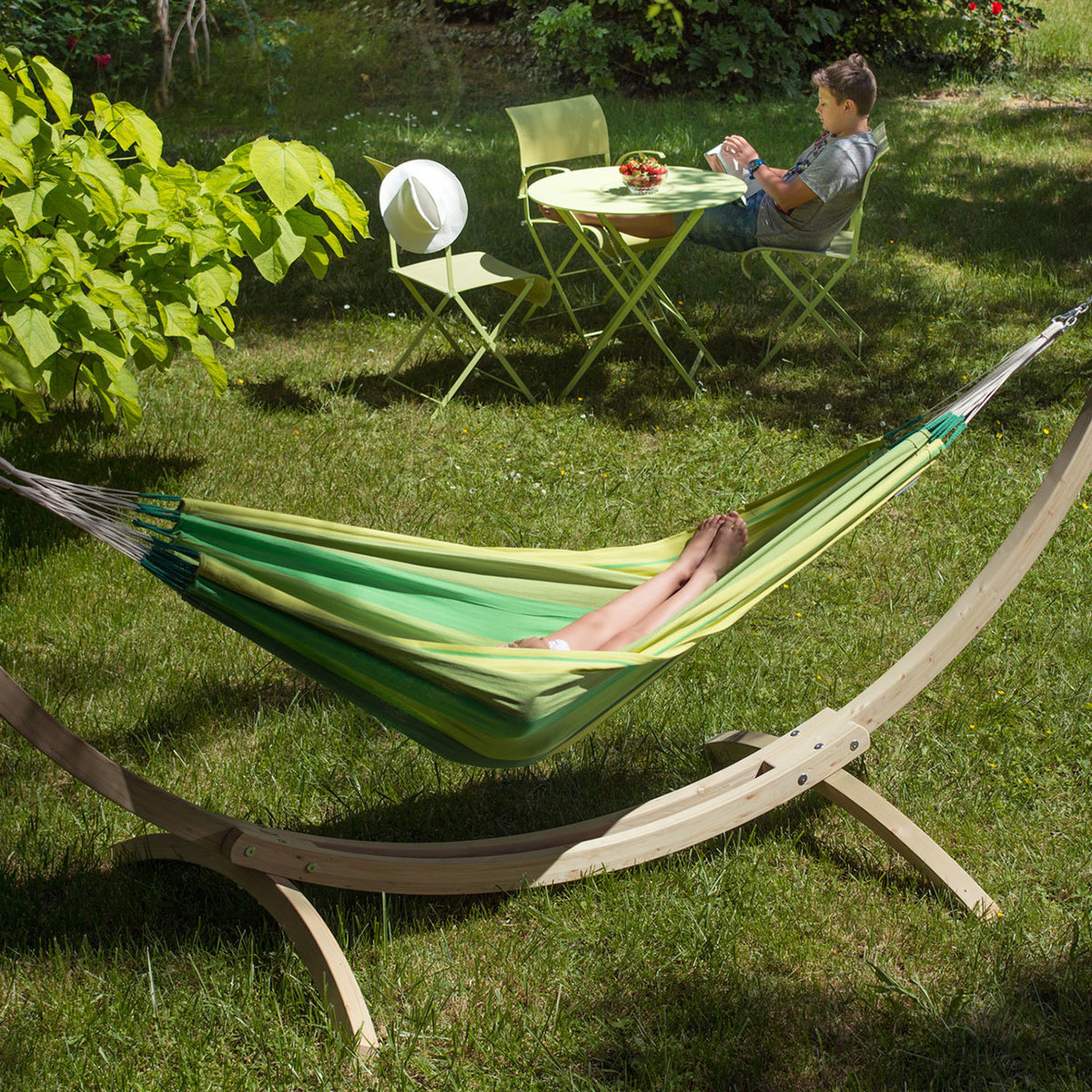 Orquidea Single Hammock With Canoa Stand By La Siesta