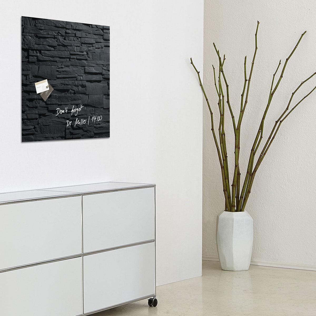 tableau magn tique carr ardoise by sigel lovethesign. Black Bedroom Furniture Sets. Home Design Ideas
