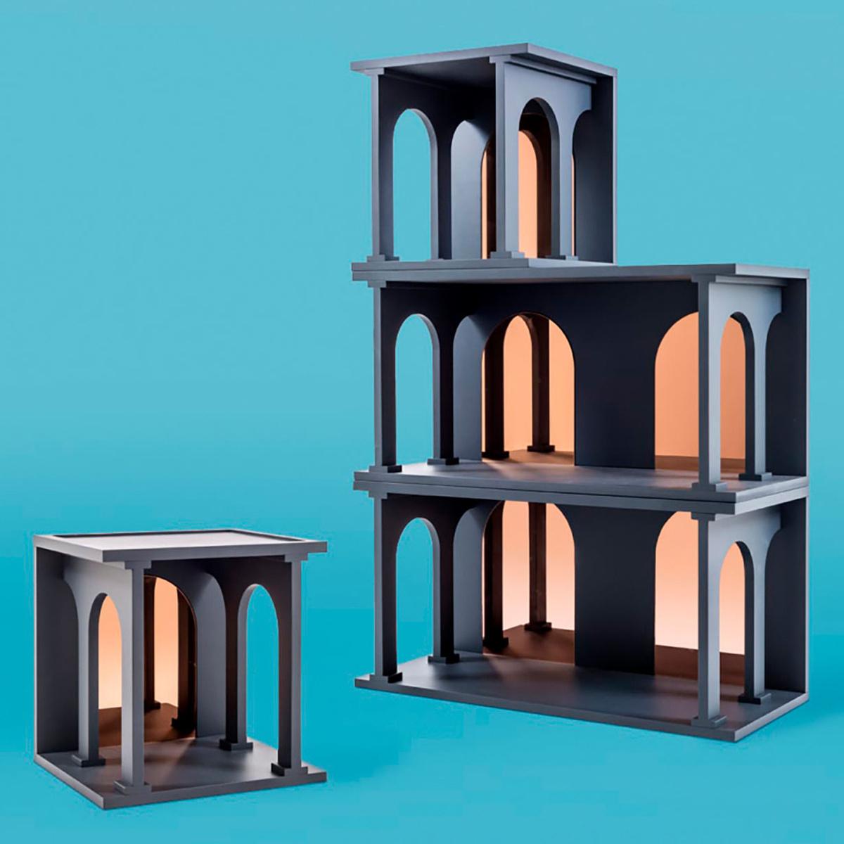biblioth que modulaire renaissance arco double by. Black Bedroom Furniture Sets. Home Design Ideas