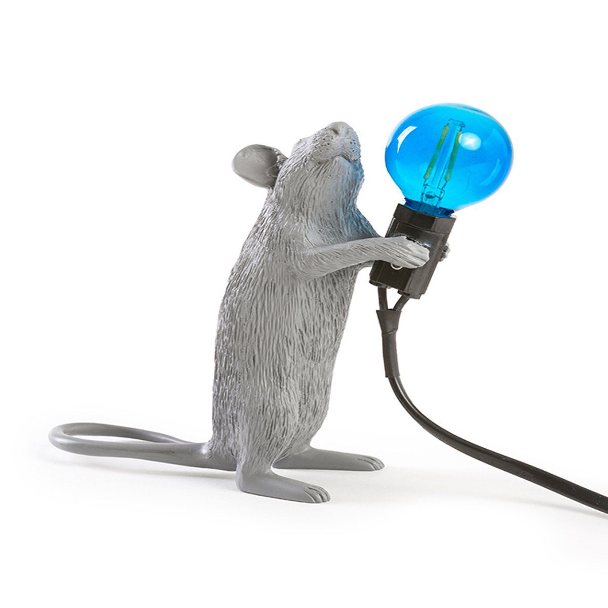 table lamp mouse standing by seletti lovethesign. Black Bedroom Furniture Sets. Home Design Ideas