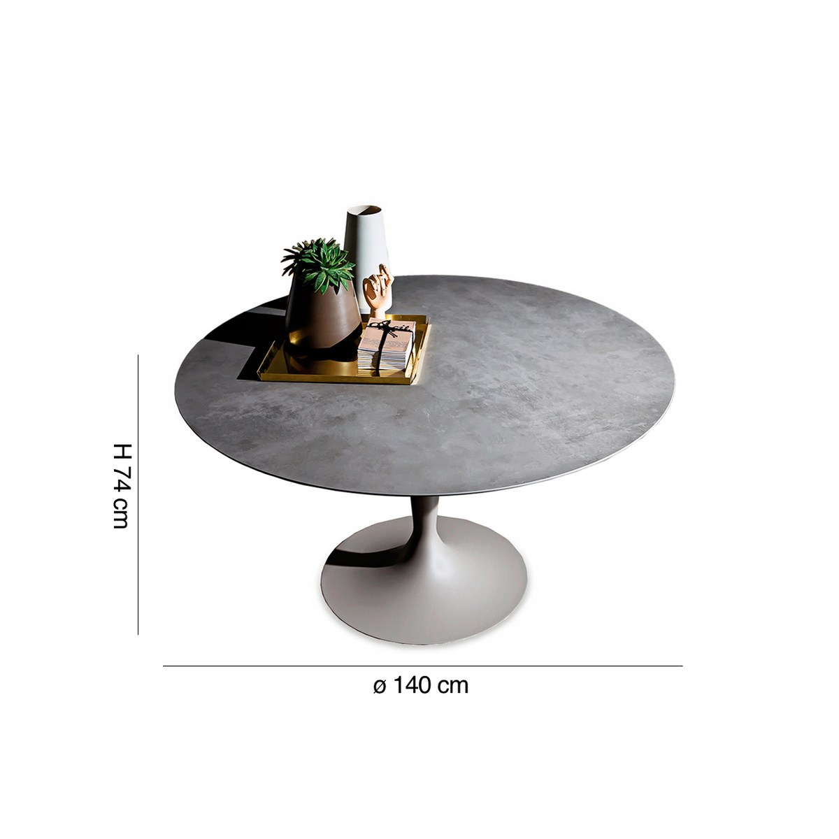 table ronde flute diam 140 cm by sovet italia lovethesign. Black Bedroom Furniture Sets. Home Design Ideas