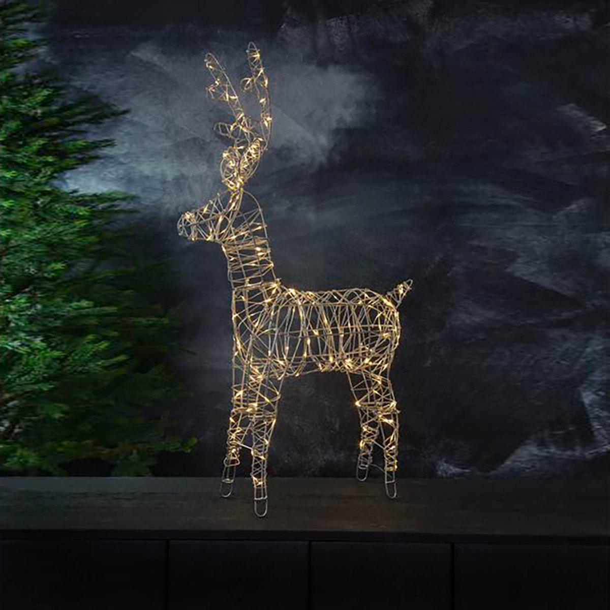 Come Creare Una Renna Luminosa decorazione luminosa da esterno renna sarve