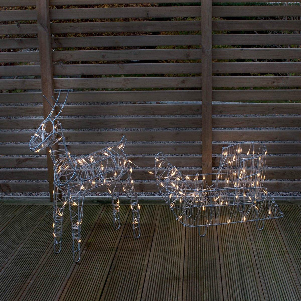 Come Creare Una Renna Luminosa decorazione luminosa da esterno renna con slitta sarve