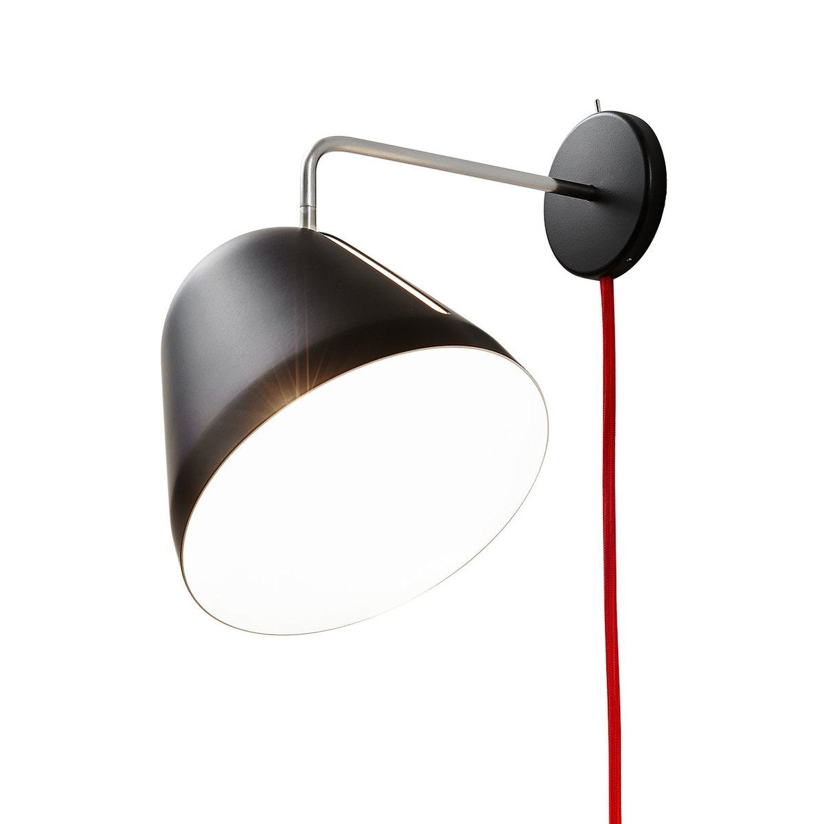 tilt wall lamp with cord and plug by nyta lovethesign. Black Bedroom Furniture Sets. Home Design Ideas