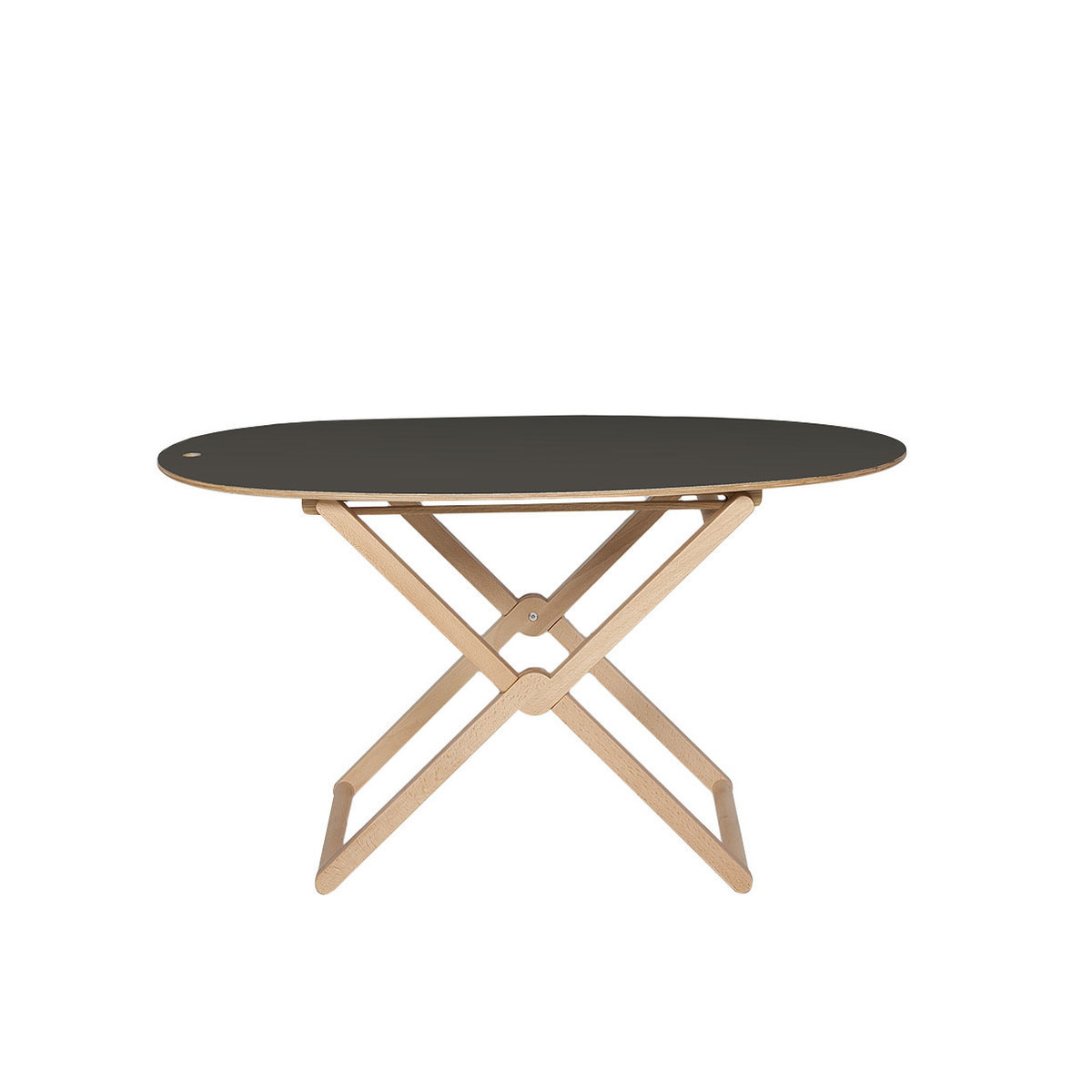 treee oval folding coffee table beech wood by caon. Black Bedroom Furniture Sets. Home Design Ideas