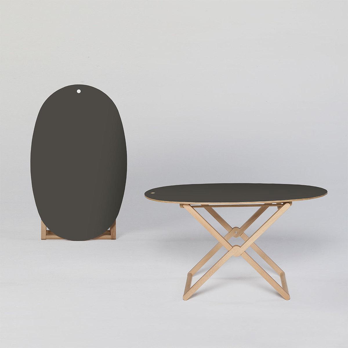 Beech Wood Coffee Table: Treee Oval Folding Coffee Table
